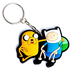 adventure time finn jake rubber keychain