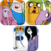 adventure time party square cakedessert plates